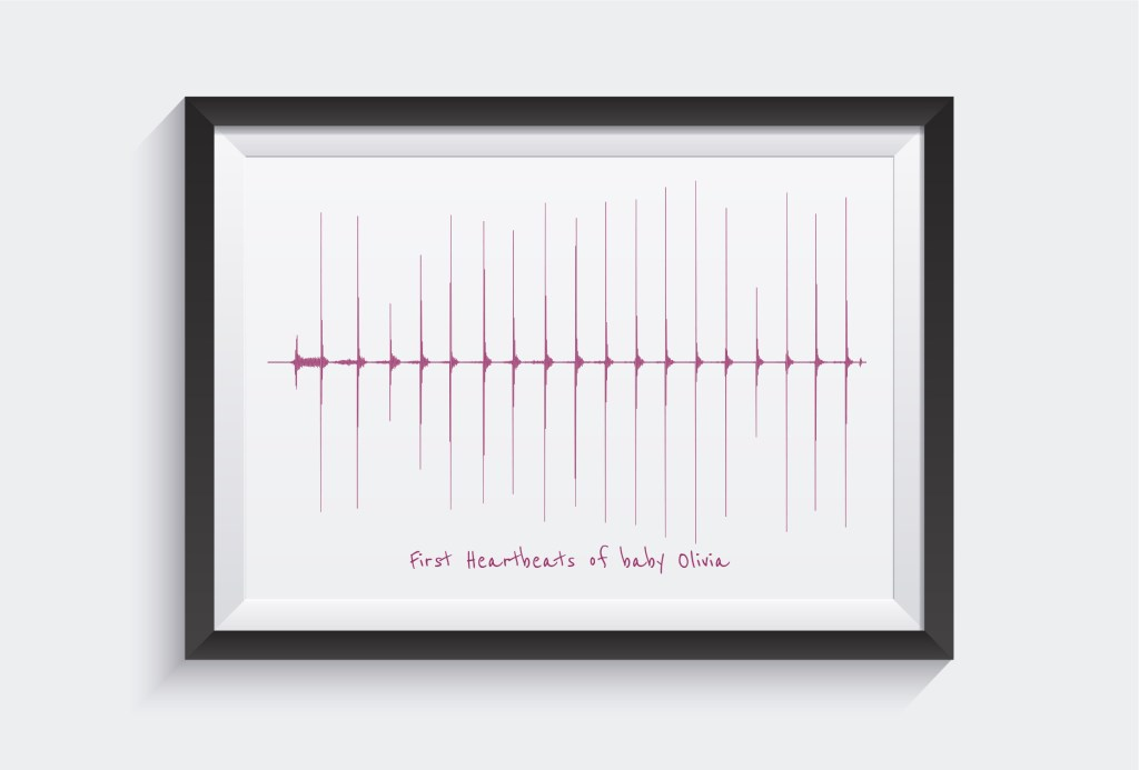 Voice art paper, poster and canvas