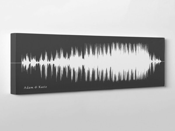 Song Sound Wave Art on Cotton Canvas
