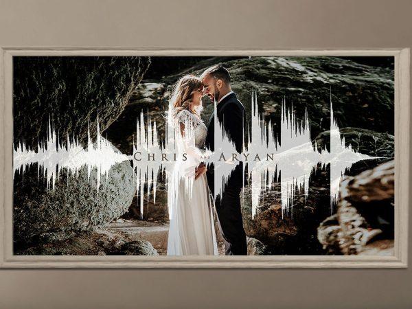 1st Anniversary (Paper Anniversary) Gift – Soundwave Art with Photo