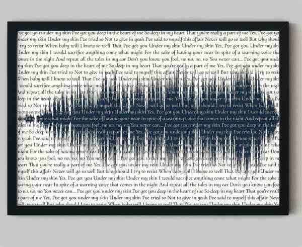 Song lyrics art with soundwave art