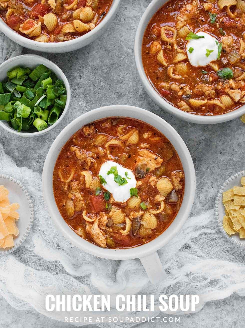 Chicken Chili Soup - Recipe at SoupAddict.com