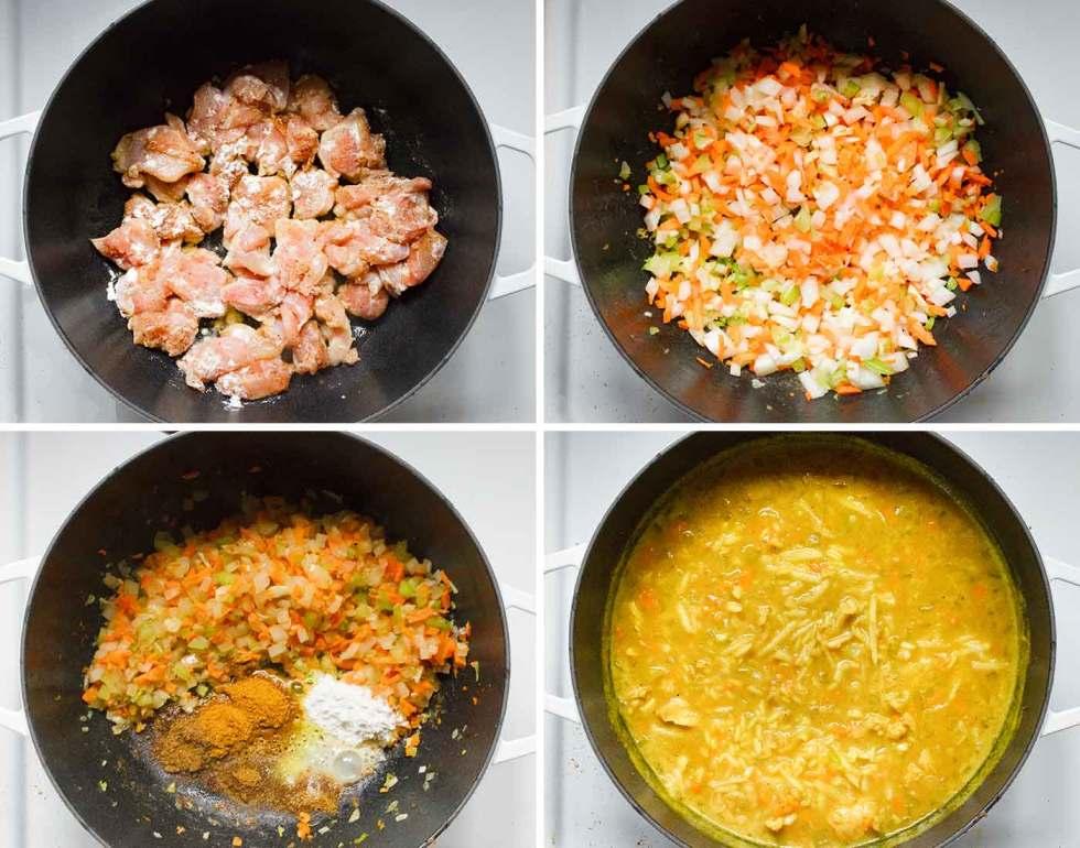 Steps to prepare mulligatawny soup