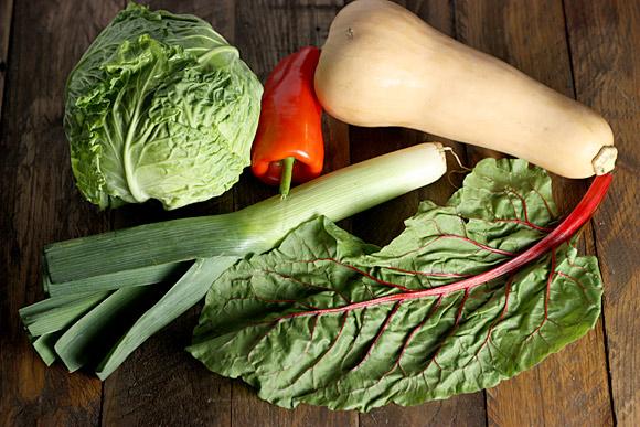 Vegetables for Autumn Vegetable Bread Soup