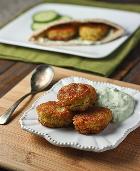 Chickpea and split pea falafels 1