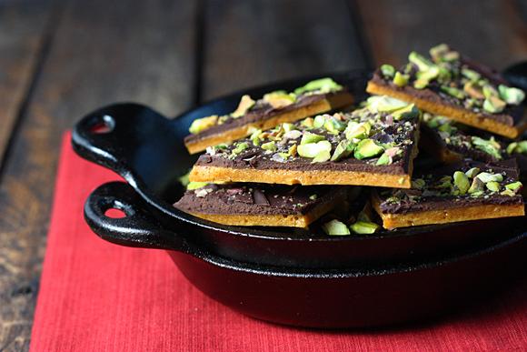Dark Chocolate Pistachio Brittle 1