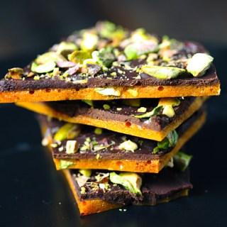 Dark Chocolate Pistachio Brittle 5