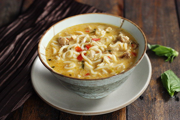 Coconut Curry Chicken Soup from SoupAddict.com