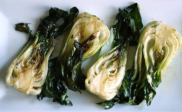 Grilled Baby Bok Choy 4