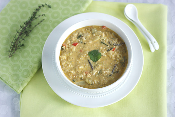 French Spring Soup in a bowl