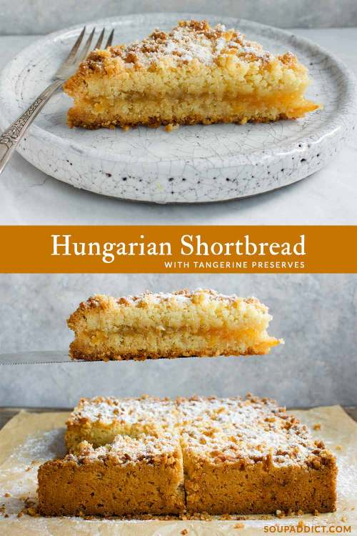 Pinnable image for Pinterest for Hungarian Shortbread
