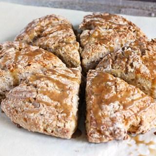 Roasted Banana Bread Scones