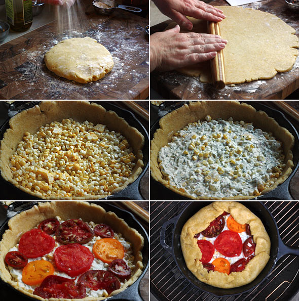 grilled tomato and corn galette 2