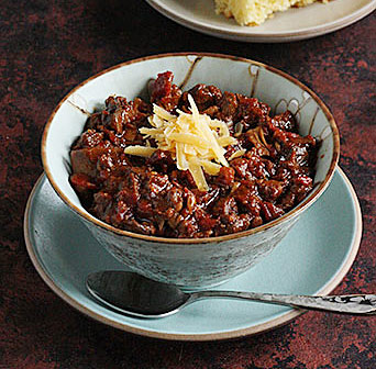 Chili with Bacon & Mushrooms