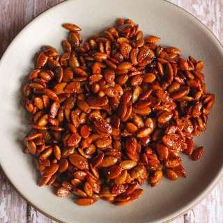Honey Sriracha Roasted Pumpkin Seeds
