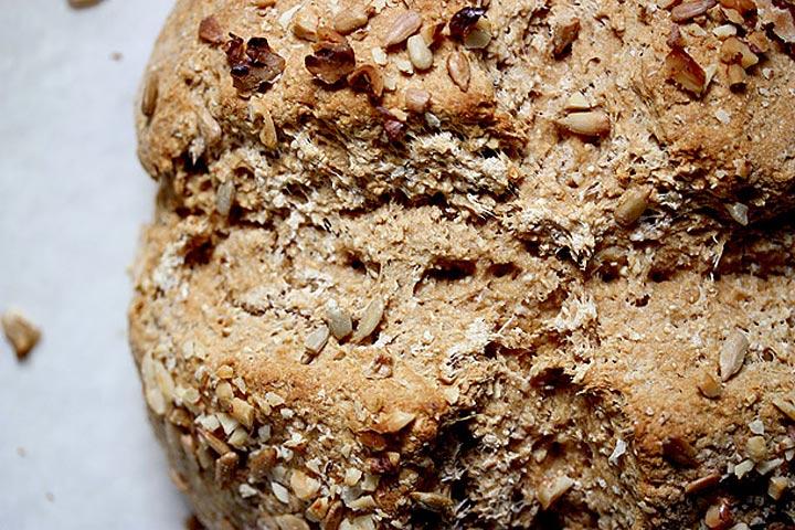 honey oat soda bread