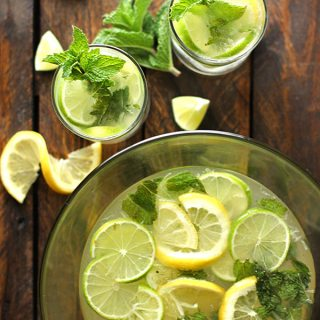 Zesty Lemon Lime Mojitos | SoupAddict.com
