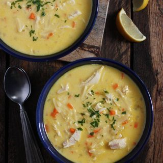 Avgolemono Turkey Soup | SoupAddict.com