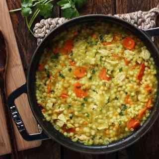 Cold-Fighting Couscous Chicken Soup | SoupAddict.com