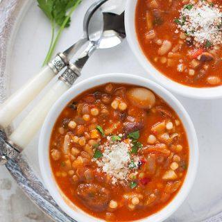 Sardinian Longevity Minestrone Soup | SoupAddict.com