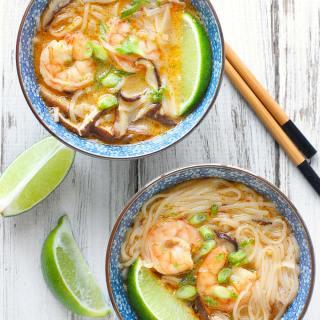 Shrimp Shiitake Curry Soup   SoupAddict.com