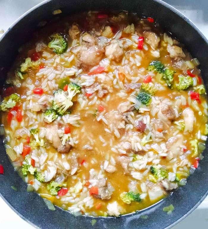 Pot of General Tso's Chicken Soup