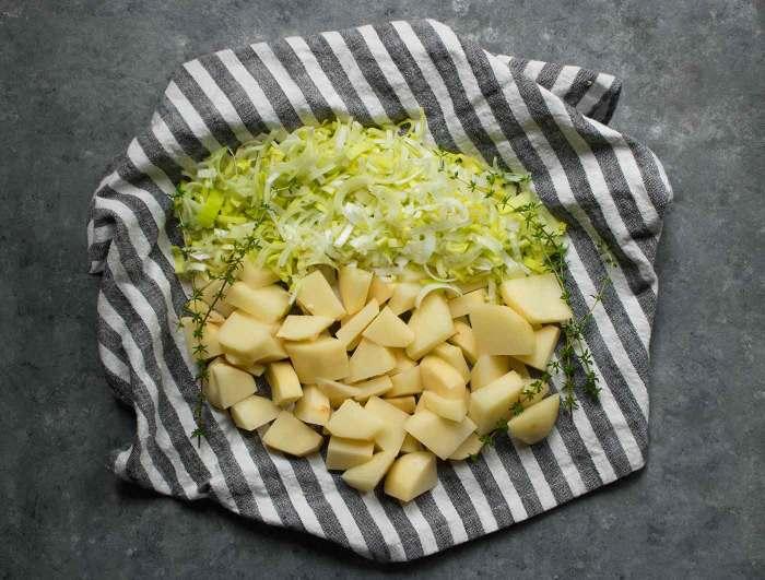 Leeks and potatoes for Instant Pot Potato Leek Soup
