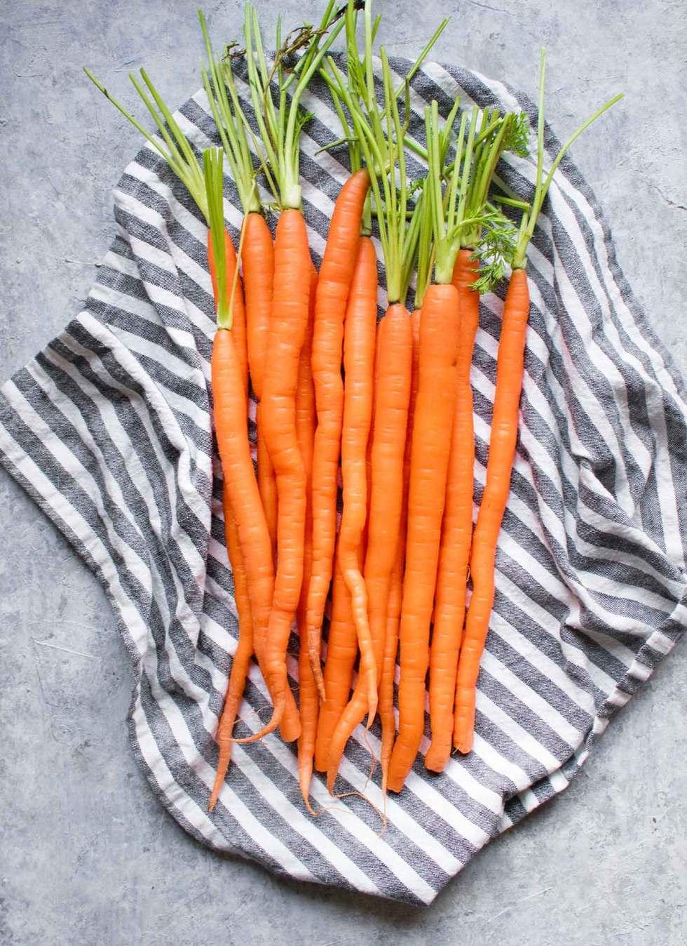 A bunch of carrots for Carrot Lemongrass Soup