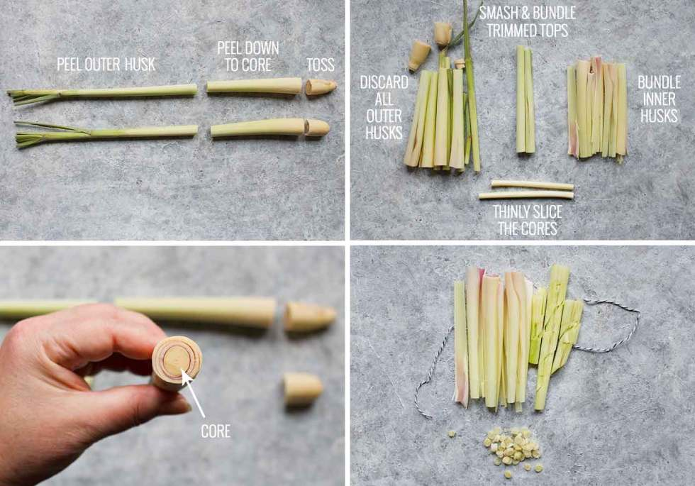 Tips for preparing fresh lemongrass
