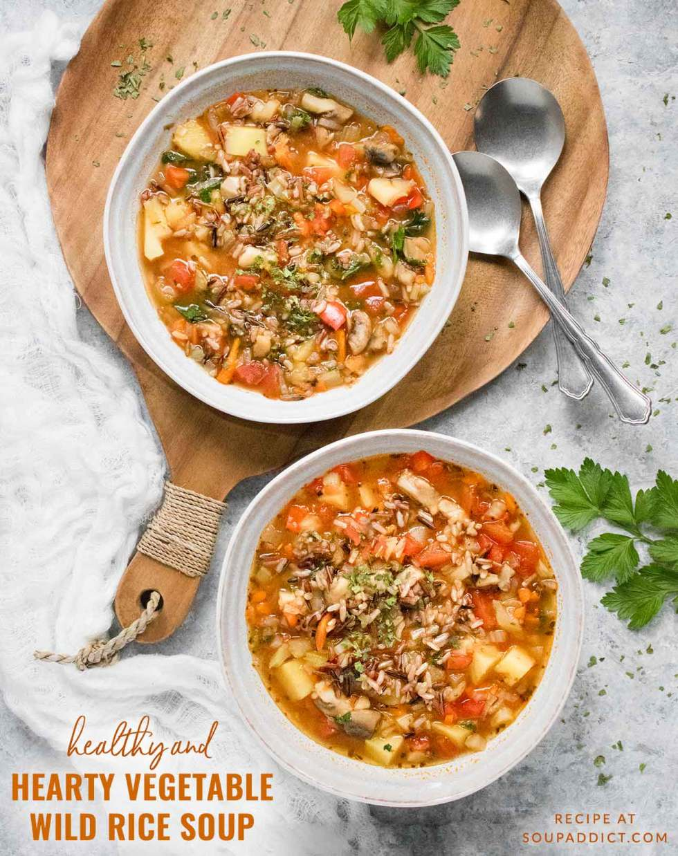 Hearty Vegetable Wild Rice Soup - Recipe at SoupAddict.com
