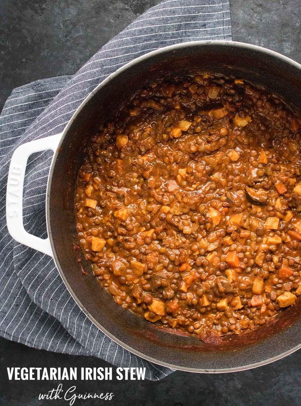 Vegetarian Irish Stew for Lentil Lovers - Recipe at SoupAddict.com