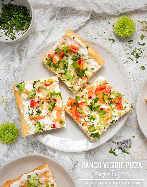 Ranch Veggie Pizza - Recipe at SoupAddict.com