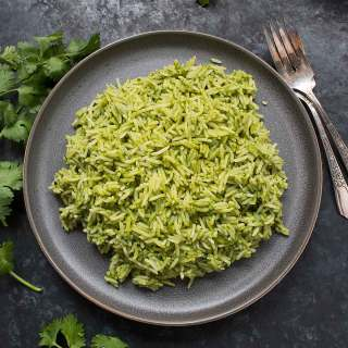 Spicy Green Rice recipe