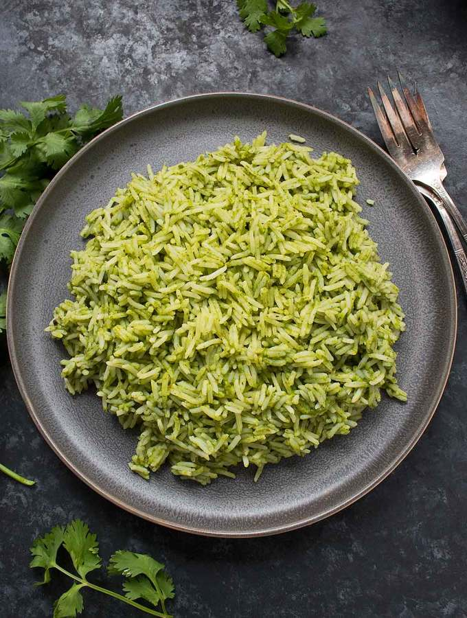 Spicy Green Rice recipe