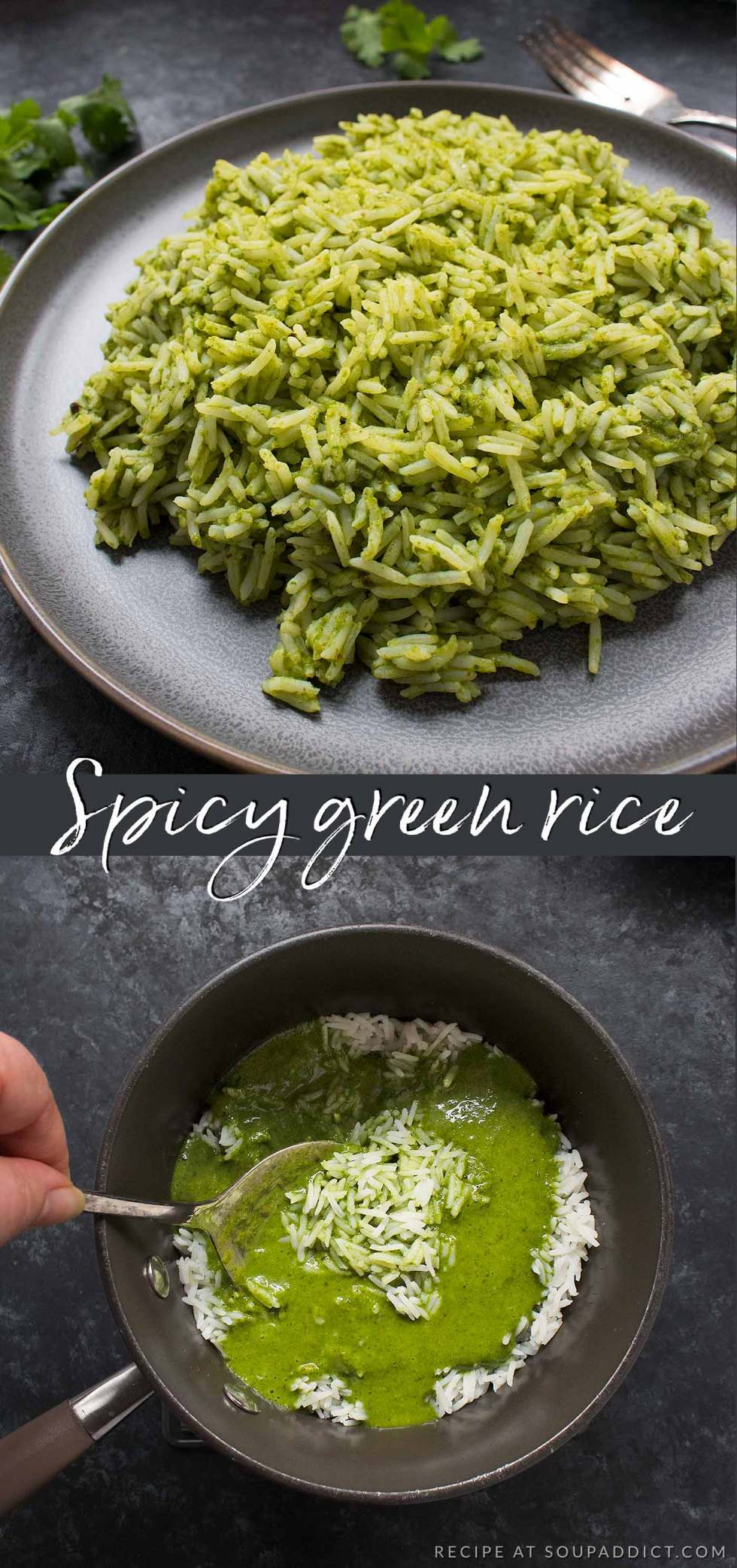 Spicy Green Rice - Recipe at SoupAddict.com