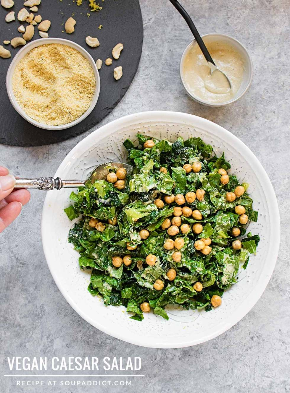 Vegan Caesar Salad - Recipe at SoupAddict.com