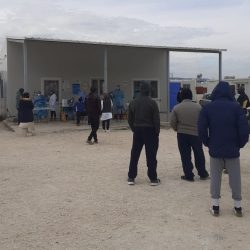 refugees in refugee camp Katsikas are being tested for the novel coronavirus