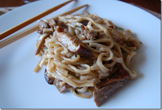 Yi Mein with Roast Duck