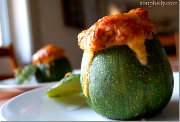 8-Ball Zucchini (Stuffed)
