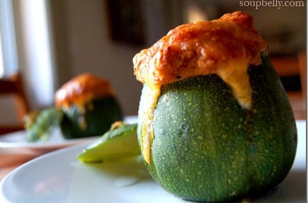 8-Ball Zucchini (Stuffed)