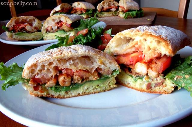 Let's have a B.L.A.S.T.! That is, a Bacon, Lettuce, Avocado, Shrimp and Tomato sandwich.