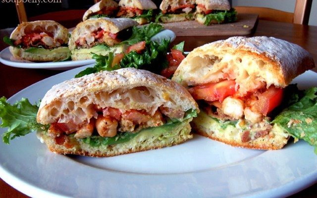 Let's have a B.L.A.S.T.! That is, a Bacon, Lettuce, Avocado, Shrimp and Tomato sandwich.