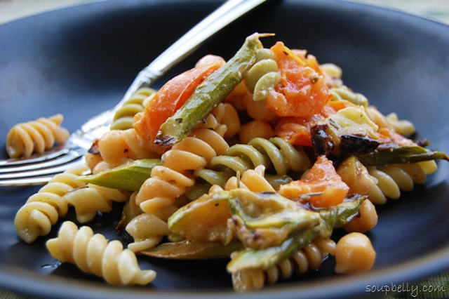 Pasta Salad with Roasted Vegetables.