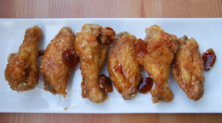 Sweet Korean Fried Chicken Wings