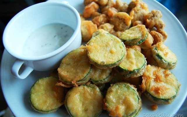 Beer Battered Veggies.