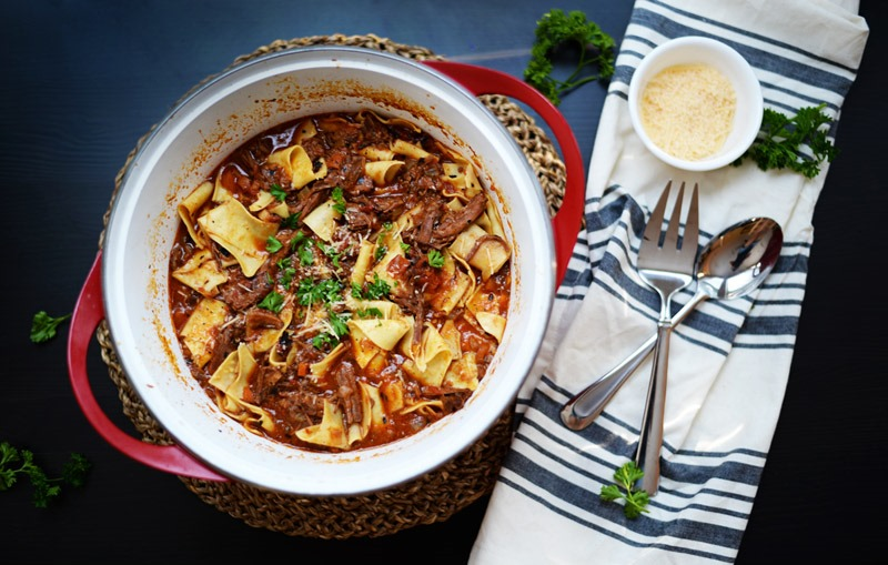Beef Ragu with Pappardelle Pasta
