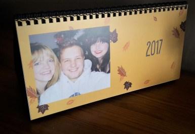 Snapfish personalised desk calendar stocking filler
