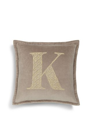 M&S embroidered alphabet cushion