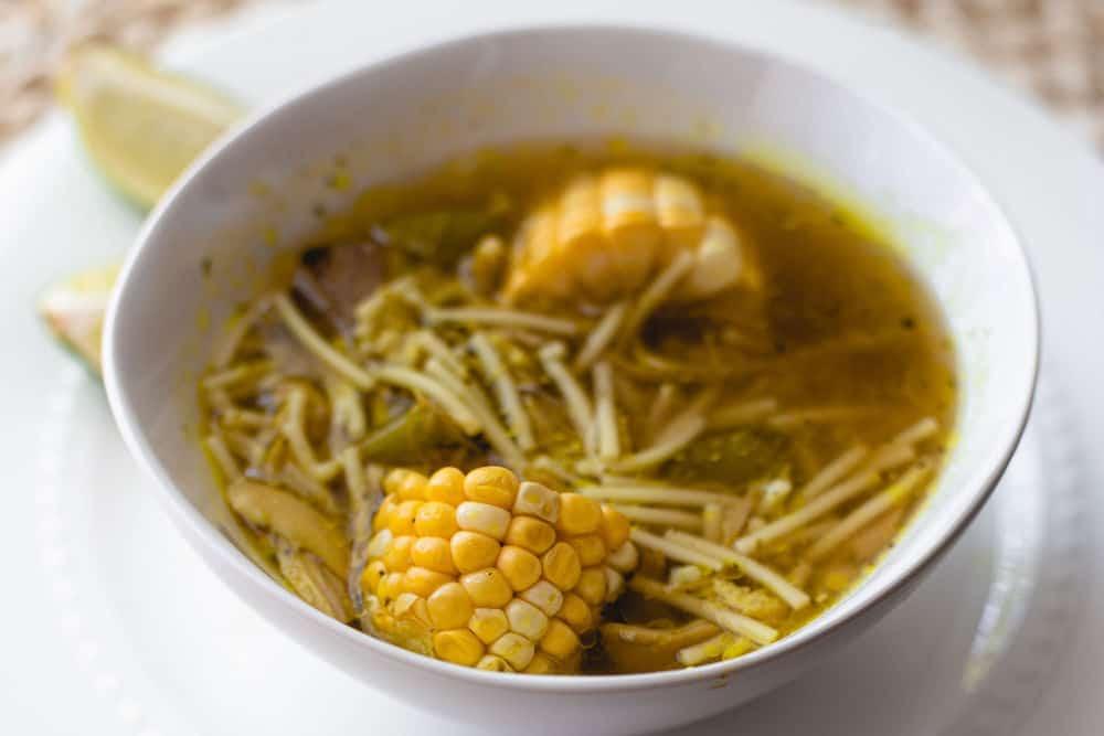 Cuban Chicken Noodle Soup Hero