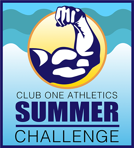 Club One Athletics Summer Challenge logo design
