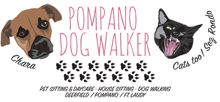 Pompano Dog Walker logo design